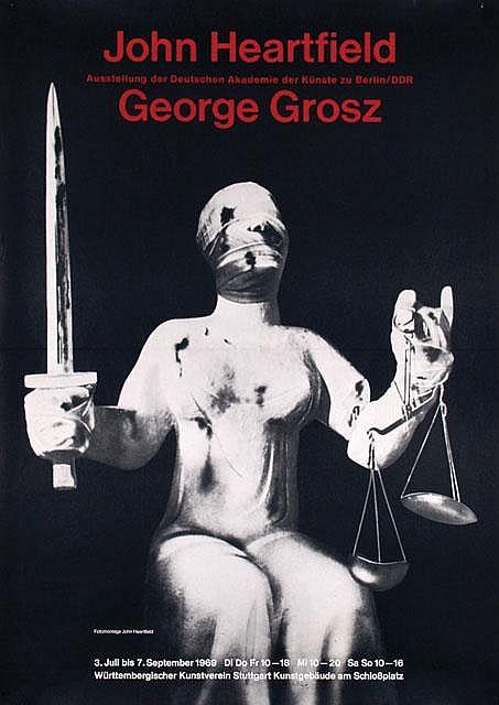 Poster by John Heartfield - Ausstellung der Deutschen Akademie der Künste zu Berlin/DDR