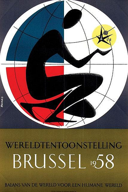 Poster by Jacques Richez - Wereldtentoonstelling Brussel