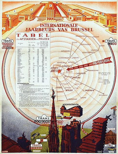 Poster by Joseph van den Bergh - Internationale Jaarbeurs van Brussel