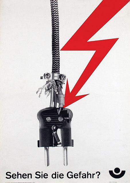Poster by Herbert W. Kapitzki - Sehen Sie die Gefahr?
