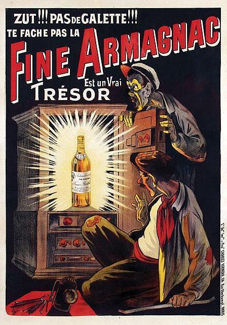 Poster by Eugene Ogé - Fine Armagnac