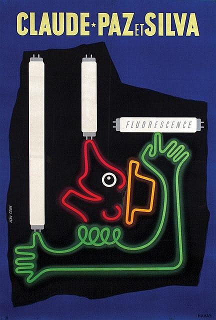 Poster by Jean Colin - Claude-Paz et Silva