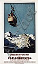 Poster by Oskar Mulley - Uitzicht over Tirol vanaf de Patscherkofel, Oskar Mulley, Click for value