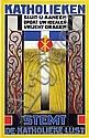 Poster by Frans Bosen - Stemt Katholieken, Franciscus Wilhelmus Josephus Bosen, Click for value