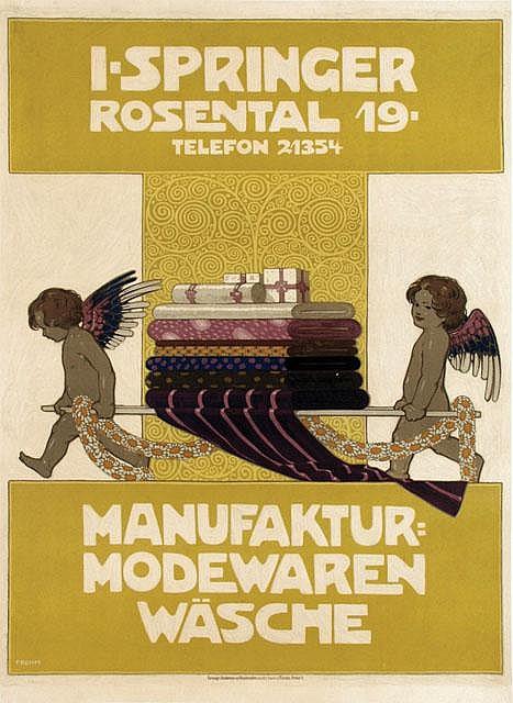 Poster by Friedrich Rehm - I. Springer Manufaktur Modewaren Wäsche
