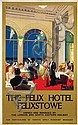 Poster by Nicoll Gordon - The Felix Hotel Felixstowe by LNER,  Félix (1943), Click for value