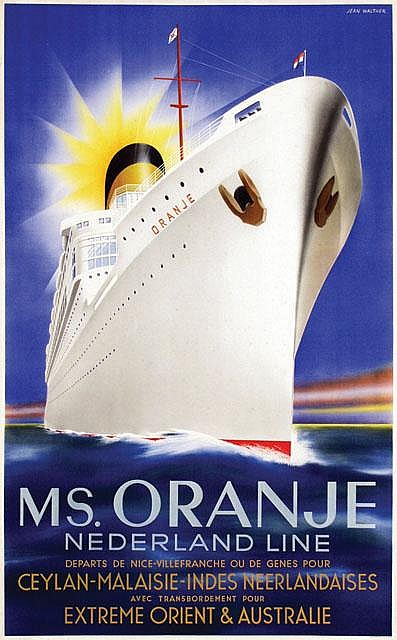 Poster by Jean Walther - Ms. Oranje Nederland Line