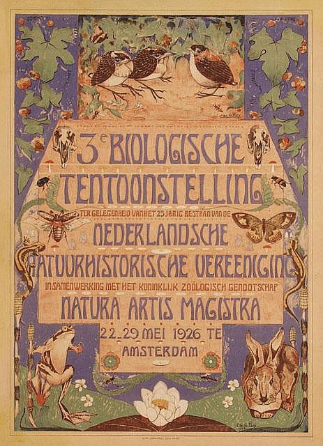 Poster by Chris le Roy - 3e Biologische Tentoonstelling Natura Artis Magistra