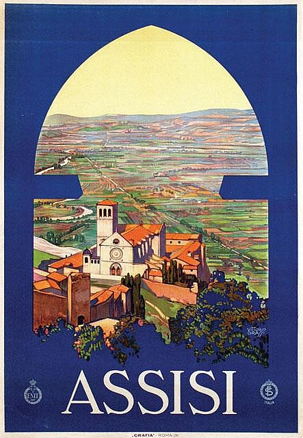 Poster by Vittorio Grassi - Assisi