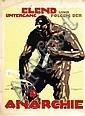 Poster by Julius U. Engelhard - Elend und Untergang folgen der Anarchie, Julius Ussy Engelhard, Click for value