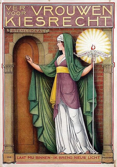 Poster by Theodorus M.A.A. Molkenboer - Ver. Voor Vrouwen Kiesrecht