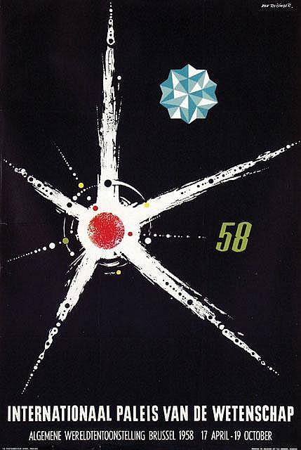 Poster by Dan Reisinger - Internationaal Paleis van de Wetenschap