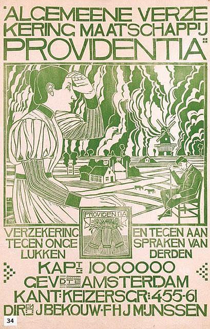 Poster by Theodorus M.A.A. Molkenboer - Algemeene Verzekeringsmaatschappij Providentia Amsterdam