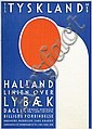 Poster by Alfred Mahlau - Tyskland Halland Linien over Lybaek, Alfred Mahlau, Click for value