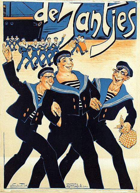 Poster by Charles Verschuuren jr. - Koninklijke Marine, de Jantjes