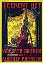 Poster by Albert Hahn Sr. - Teekent het volkspetitionnement, Albert Hahn, Click for value