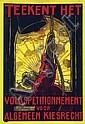 Poster by Albert Hahn Sr. - Teekent het volkspetitionnement, Albert Hahn, Click for value
