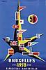 Poster by Bernard Villemot - Exposition Universelle Bruxelles, Bernard Villemot, €120
