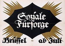 Poster by Lucien Bernhard - Soziale Fürsorge (Social Welfare Exhibition)
