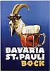 Poster by Ottomar Anton - Bavaria St. Pauli Bock, Ottomar Anton, €260
