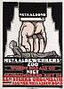 Poster by Albert P. Hahn jr. - Metaalbond Metaalwerkers in Alg. Ned. Metaalbew. Bond, Albert Hahn, €180