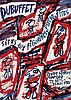 Poster by Jean Dubuffet - Sites aux Figurines, Psycho-Sites, Jean Dubuffet, €120