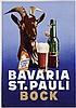 Poster by Ottomar Anton - Bavaria St. Pauli Bock, Ottomar Anton, €180