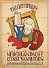Poster by Jan Roëde - Pulchri Studio Tentoonstelling Nederlandsche Kunst van Heden, Eleanor Esmonde-White, €160