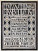 Poster by Jacobus W. (Jaap) Gidding - Stedelijk Museum Amsterdam Tentoonstelling van Binnenhuiskunst. Werken van mevr. Midderigh Bokhorts, Corn van der Sluijs a.o., Jaap Gidding, €1,200