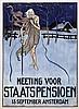 Poster by Albert Hahn sr. - Meeting voor Staatspensioen Amsterdam, Albert Hahn, €440