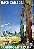 Poster by Albert Fuss - Nach Kanada, Albert Fuss, €280