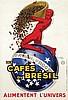 Poster by Jean d' Ylen - Les Cafés du Brésil, Jean D'ylen, €1,200