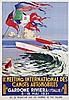 Poster by Giuseppe Riccobaldi - 11e. Meeting International des Canots Automobiles Gardone Riviera (Italie), Giuseppe Riccobaldi, €6,000
