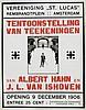 Poster by Albert Hahn Sr. - Tentoonstelling van Teekeningen van Albert Hahn, Albert Hahn, €160