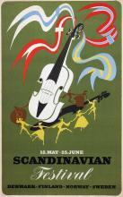 Poster by Henry Thelander - Scandinavian Festival Denmark-Finland-Norway-Sweden