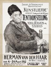 """Poster by Herman, van der Haar - Tentoonstelling Genootschap """"Kunstliefde"""" Herman van der Haar"""