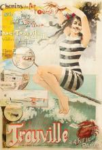 Poster by H. Gray - Chemins de fer de l'ouest Trouville Casino