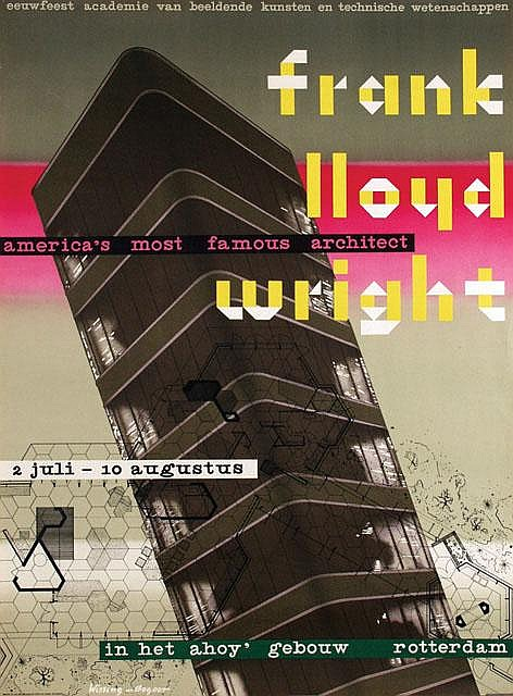 Poster by  Wissing, Benno (1923-2008) & Jan A. Begeer (1921-) - frank lloyd wright