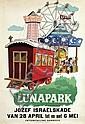 Poster by Cornelius van Velsen - Lunapark, Cornelis