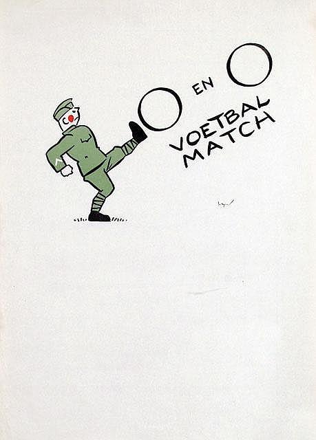 Poster by Jo Spier - O en O Voetbal Match