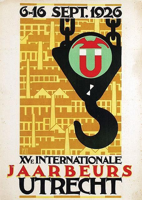 Poster by Louis C. Kalff - Int. Jaarbeurs Utrecht