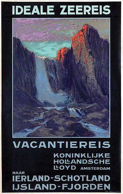 Poster by Hendrik van Steenwijk - Koninklijke Hollandsche Lloyd Ideale Zeereis Vacantiereis