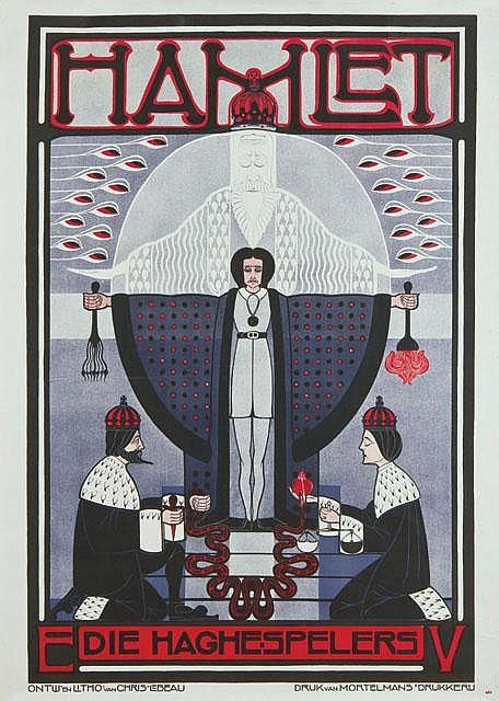 Poster by Christiaan J.J. Lebeau - Hamlet Die Haghe-Spelers