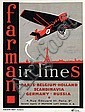 Poster by Léon V. Solon - farman air lines