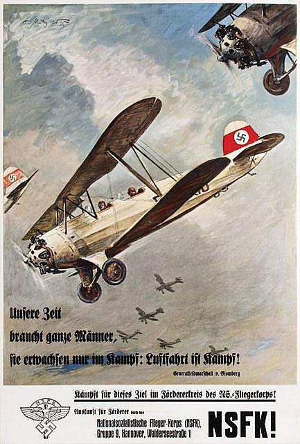 Poster by Theo Matejko - NSFK! Unsere Zeit braucht ganze Männer