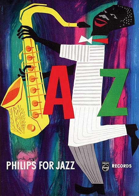 Poster by Cornelius van Velsen - Philips for Jazz