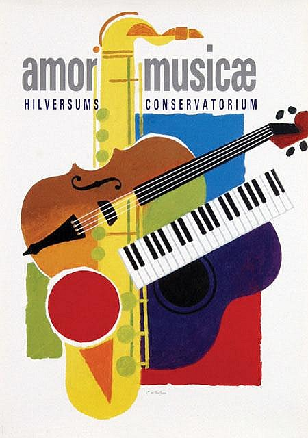 Poster by Cornelius van Velsen - Amor Musicae
