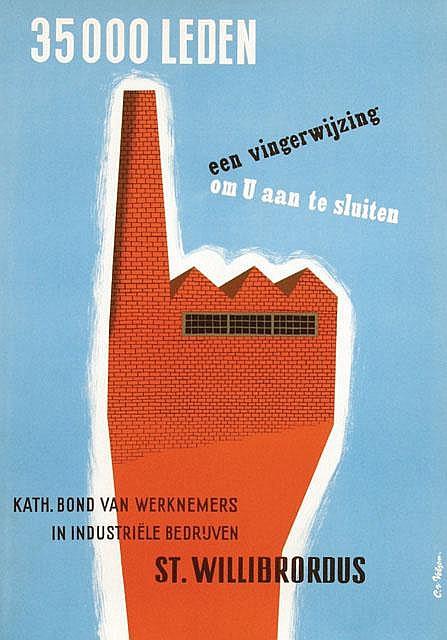 Poster by Cornelius van Velsen - Kath. Bond van Werknemers