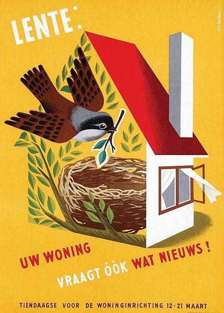 Posters (2) by Cornelius van Velsen - Lente: Uw Woning