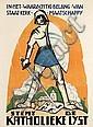 Poster by Joan Collette - Stemt de Katholieke Lijst, Joan Collette, Click for value